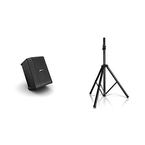 """Bose S1 Pro Portable Bluetooth Speaker System w/Battery – Black & Pyle Universal Speaker Stand Mount Holder Heavy Duty Tripod w/Adjustable Height from 40"""" to 71"""" and 35mm"""