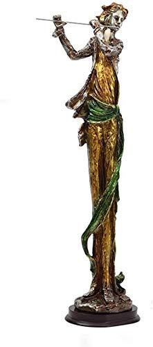 HEWEI Crafts moderne minimalistische mode meisje lint hars sculptuur ornamenten retro woonkamer TV kast kantoor decoraties geschenk (grootte: 20.5 * 10.5 * 53cm)