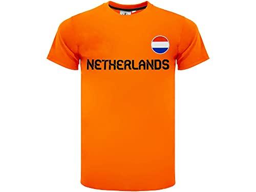 Camiseta de fútbol holandesa oficial 2020, modelo neutro, material 100% poliéster, unisex,...