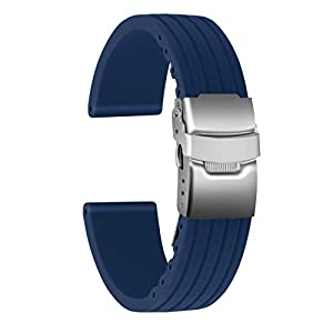 Ullchro Correa Reloj Calidad Alta Recambios Correa Relojes Caucho Stripe