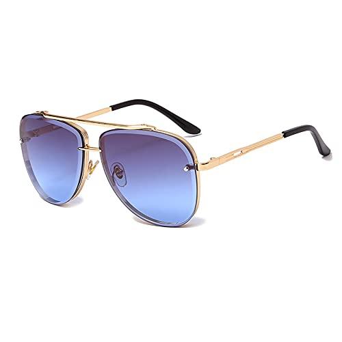 ShZyywrl Gafas De Sol De Moda Unisex Gafas De Sol De Moda para Mujer Y Hombre, Gafas De Sol De Metal Vintage, Gafas De Sol De Lujo, Gafas De Sol Uv400, Gafas D