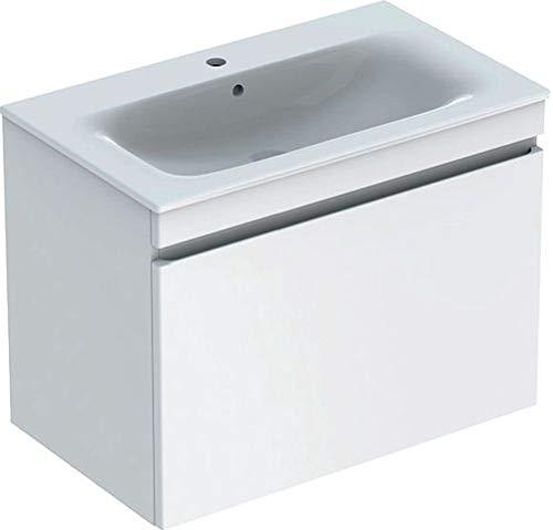 Keramag Geberit Renova Plan Waschtischunterschrank für Waschtisch, schmaler Rand mit 1 Schublade, 78,8x58,5x47,3cm, weiß, 869580000