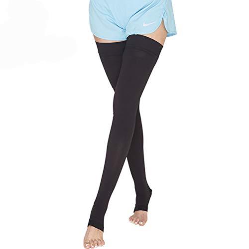 WYSDD hoge compressiekousen voor de bovenbeen, met open tenen en compressiekousen, medische behandeling, slangbehandeling, spataderen, zwelling, 3 paar