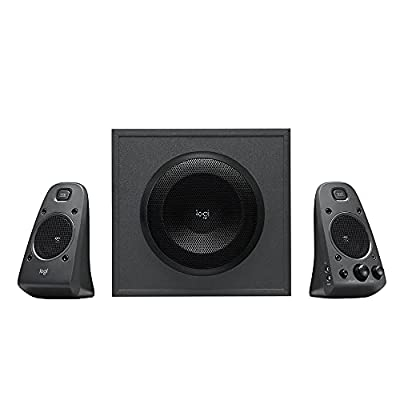 Logitech Z625 THX 2.1 Speaker System with Subwoofer, EU PLUG, THX Certified Audio, 400 Watts Peak Power, Deep Bass, Multi-Device, 3.5 mm and RCA Inputs, PC/PS4/Xbox/DVD Player/TV/Smartphone/Tablet from Logitech G