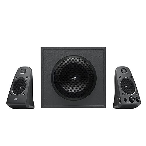 Logitech Z625 2.1 Lautsprecher-System mit Subwoofer, THX-zertifiziert, 400 Watt Spitzenleistung, 3,5 mm Eingang, Cinch- & Optischer Eingang, EU Stecker, PC/TV/Tablet/PS4/Xbox/Wii - schwarz