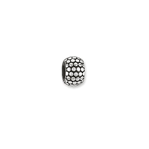 Thomas Sabo Damen Herren Stopper für Kette Armband Karma Beads 925 Sterling Silber geschwärzt Silikon KS0001-585-12
