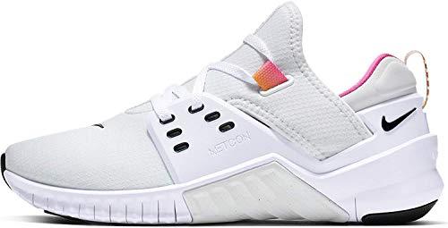 Nike Women's Free Metcon 2 Training Shoe, White/Black/Laser Fuchsia, Size 8.5