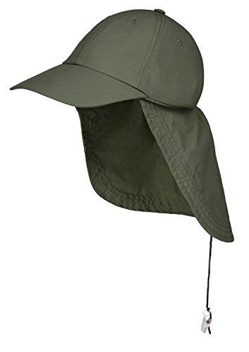 Black Snake Schirmmütze mit Nackenschutz ideal für Outdooraktivitäten Oliv OneSize
