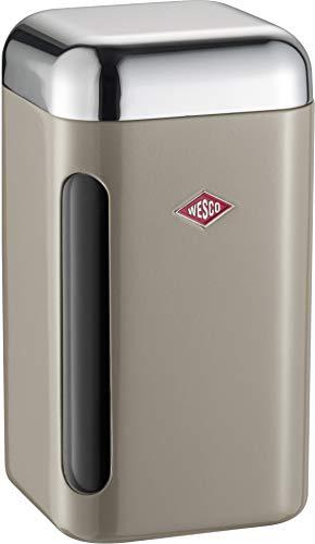 WESCO 321 203 Vorratsdose eckig warm Grey 11 x 11 x 19.5cm (L/B/H), Kunststoff