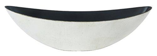Decoline Kunststoff Blumentopf Schiff (weiß/braun, XL: 55.5 x 17.5cm)