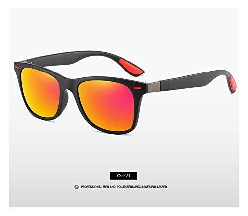 DIOXQEN Diseño clásico Diseño de Marca Gafas de Sol polarizadas Hombres Mujeres Driver Shades Hombre Vintage Gafas de Sol Hombres Espejo Verano UV400O para Uso en Exteriores (Lenses Color : C7)