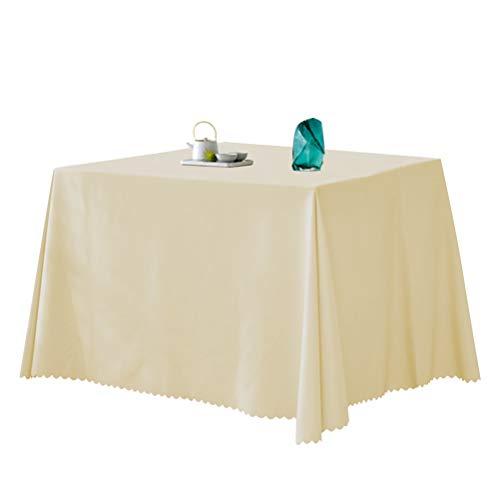 THETHO obrus 140 * 140 cm prostokątny obrus tkanina poliestrowa obrus dekoracyjny obrus na stół do restauracji kuchni jadalni na imprezę (beżowy)