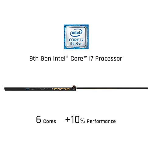 "MSI GS65 Stealth-1668 Thin 15.6"" 144Hz 7ms Ultra Thin and Light Gaming Laptop Intel Core i7-9750H GTX1660Ti 16GB 512GB NVMe SSD TB3 Win10 VR Ready"