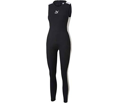 PUMA Damen Classics T7 Shortsleeve Tight Jumpsuit Overall, Black, L