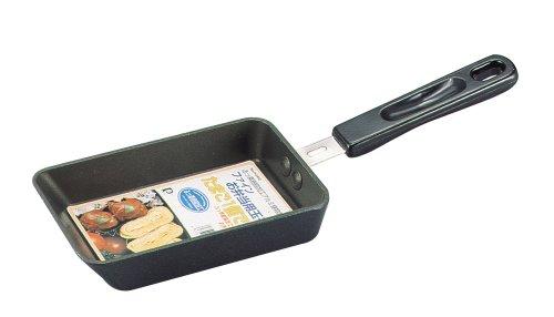 パール金属 ミニ 卵焼き フライパン ガス火専用 玉子焼き器 フッ素加工 アルミ鋳物製ファイン お弁当用 H-6440