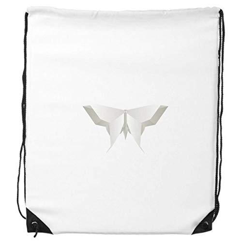 DIYthinker Origami Blanco de la Mariposa Abstracta del patrón del morral del Lazo Compras Deportes Bolsas de Regalo