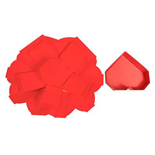 SEHNL Caja de Regalo de explosión de explosión Sorpresa en Forma de corazón Aniversario Scrapbook DIY Hecho a Mano Álbum de Fotos de San Valentín Regalo de Boda Creative Scrapbook (Color : Rojo)