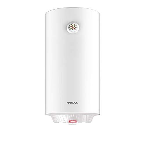 TEKA EWH 100 C Termo Eléctrico de 100 Litros con Instalación Vertical, Temperatura 30 ° - 75 °, Eficiencia Energética C, 97 x 45 x 45 cm