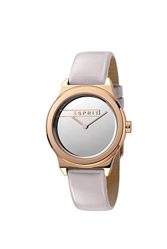 Esprit Damen Analog Quarz Uhr mit Leder Armband ES1L019L0055
