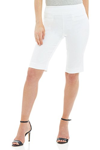 """Rekucci Women's Ease In to Comfort Fit"""" Moderne Pull-On City-Shorts"""