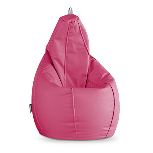 HAPPERS Puff Pera Polipiel Interior Fucsia XL