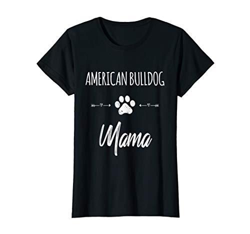 Cute Dog Mom Mama American Bulldog Love Puppy Gift T-Shirt