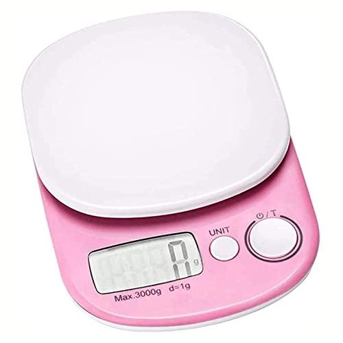 XIXIDIAN Escala de cocción de pesaje electrónica de Escala de Alimentos, con Pantalla LCD para Uso, Escala de harina de Alta precisión, para cocinar, té