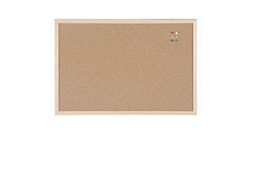 Bi-Office Budget - Tablero de corcho con marco de madera, 60 x 40 cm