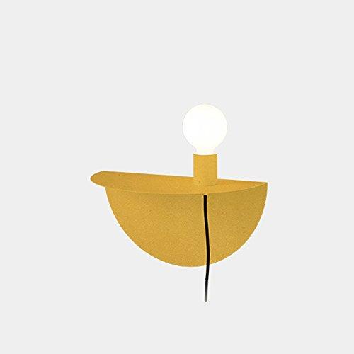 Appliques murales en fer à la mode, Applique murale minimaliste moderne LED pour enfants Nordic Living Room Allée Table murale (Color : Yellow)