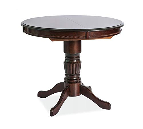 MHF Margo - Mesa extensible (madera de nogal, estilo clásico)