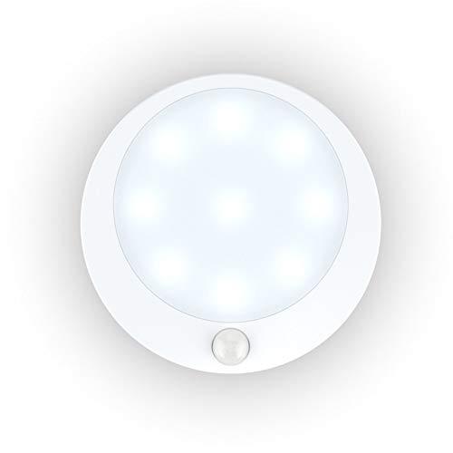 XHSHLID lamp met bewegingsmelder voor trappen, nachtlampje, werkt op batterijen, bewegingsmelder