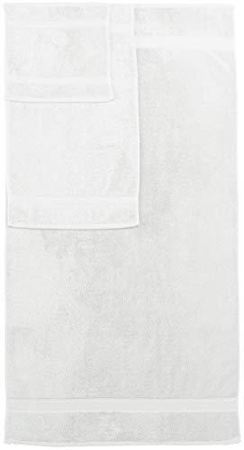 Amazon Brand – Pinzon 6 Piece Blended Egyptian Cotton Bath Towel Set - White