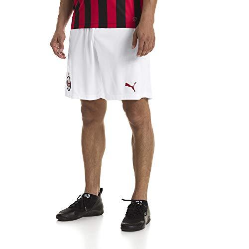 PUMA AC Milan Shorts Replica Without Inner Slip, Pantaloni Uomo, Bianco (White/Tango Red), M