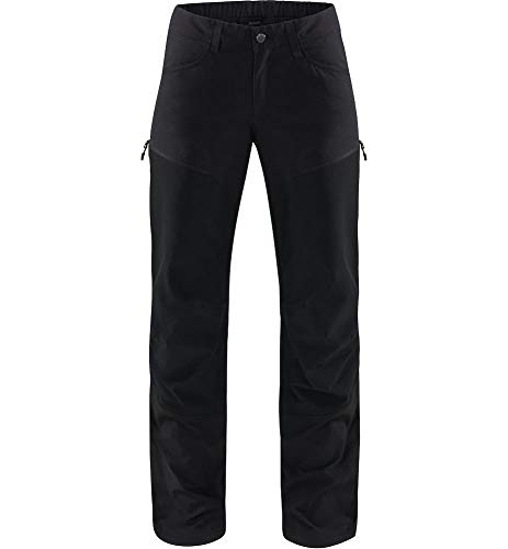 Haglöfs Mid Flex Pantalon pour Femme S Noir (True Black Solid lon)