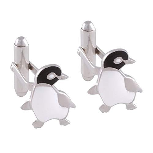 The Cufflink Store Sterling Silber Emaille Pinguin Manschettenknöpfe
