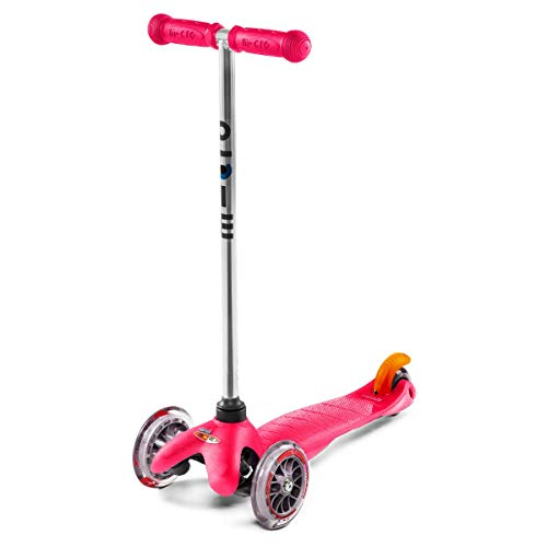 Micro Kickboard - Mini Original - Three Wheeled, Lean-to-Steer Swiss-Designed Micro Scooter for Toddlers & Children with Non-Marking Wheels for Ages 2-5 (Pink)