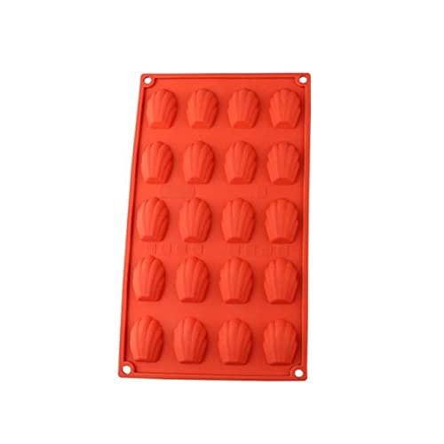 20 Hohlraum DIY Keks Backwerkzeug Mini Madeleine Shell Kuchenform Silikon Schokoladenform Backwerkzeug Zubehör - W1,01