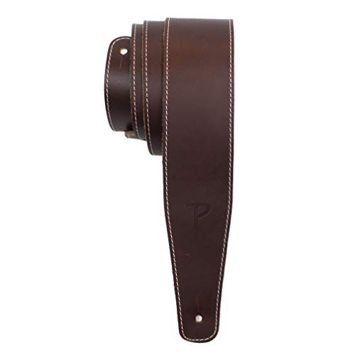 Perri's Leathers Ltd. - Correa de guitarra - Cuero de béisbol (serie) - Marrón - Ajustable - Para guitarras acústicas/bajas/eléctricas - Fabricada en Canadá (SP25S-7050)