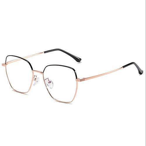 Nuevas Gafas De Sol De Moda con Montura Grande Gafas De Luz Anti-Azules Luz De ModificacióN De Cara Irregular Y Espejo Plano para Mujer,C
