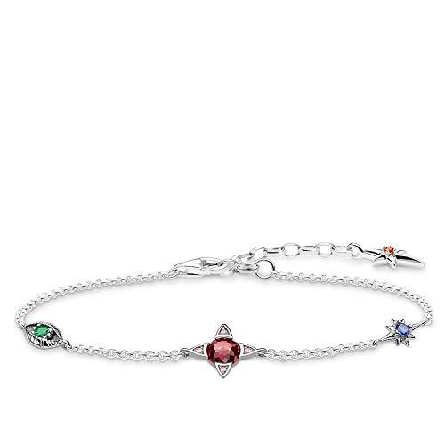 Thomas Sabo Damen-Armband Kleine Glücksbringer silber 925 Sterlingsilber A1913-342-7-L19v