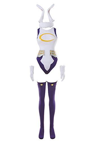 Miruko bnha Cosplay Costume Rabbit Hero Mirko mha Bunny Costume bnha Bunny Hero S/M White