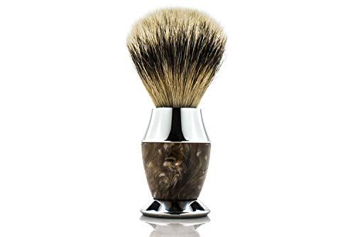 Maison Lambert 100% Silvertip Badger Bristle, Horn...