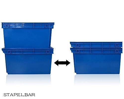 Stapelbox Stapelkästen Stabile Transportbox, Säurebeständig und Lebensmittelecht (L-52 * 40 * 31cm)