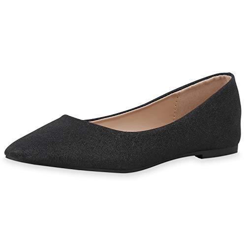 SCARPE VITA Dames Klassieke Ballerina Elegant Slip On Schoenen Schitteren Pantoffel Flat Uitgaansschoenen