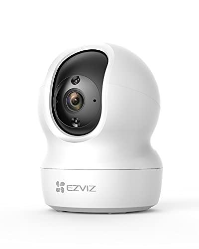 EZVIZ CP1 2K Caméra Surveillance WiFi Intérieure, Camera IP WiFi & Ethernet 360 ° Pan/Tilt Compatible Alexa, Vision Nocturne Intelligente, Suivi de Mouvement, Audio Bidirectionnel, Mode Veille, H.265