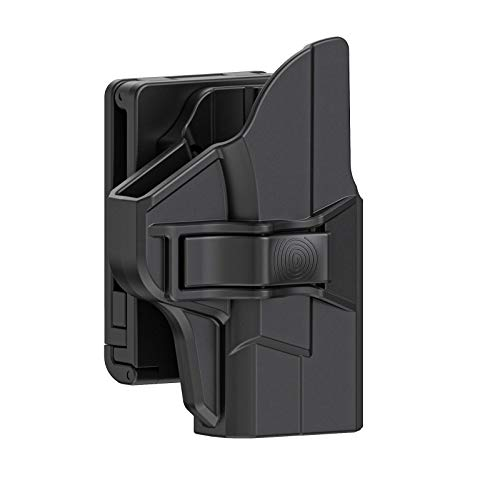 OWB Holster for M&P Shield 9mm , Polymer Belt Holster Fits for S&W M&P Shield M2.0 9mm/.40 3.1'' Barrel, Tactical 60 ° Adjustable Outside Waistband Holsters with Fast Release Button, Right-Handed