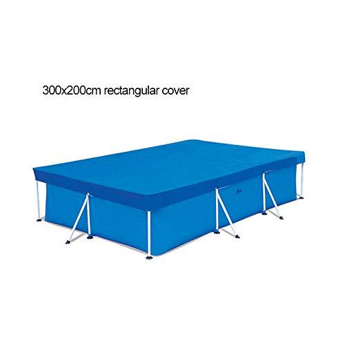 Cubierta rectangular para piscina, protege contra la exposición al sol y las caídas de las hojas, fácil de instalar y no se rompe.