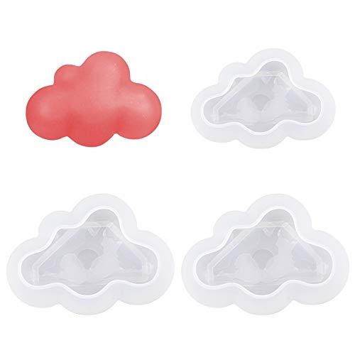 WANDIC 2 x 3D-Epoxidharz-Formen in Wolkenform, aus Silikon, handgefertigt, für Schmuck, Eiswürfel, Bastelarbeiten, Fondant, Dekoration und Seifenherstellung