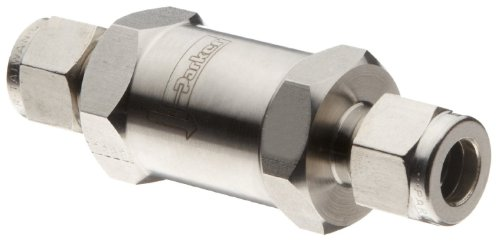 Parker C Series Stainless Steel 316 Check Valve, 0.33 psi Cracking Pressure, 3/8