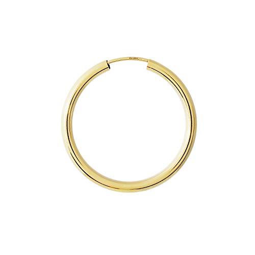 NKlaus EINZEL 333 gelb Gold CREOLE Ohrring Ohrschmuck rund Goldohrring 30mm 1851